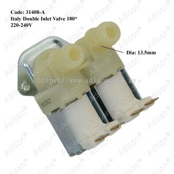 Code: 31408-A Italy Double Inlet Valve 180*