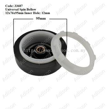 Code: 33687 Universal Spin Bellow 12x76x95mm