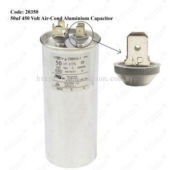 Code: 20350 50 uf 450 Volt Air-Cond Aluminium Capacitor