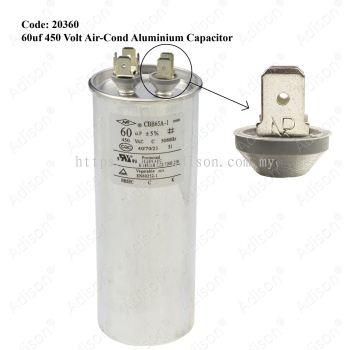 Code: 20360 60 uf 450 Volt Air-Cond Aluminium Capacitor
