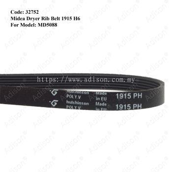 Code: 32752 Rib Belt 1915 H6 for Midea Dryer