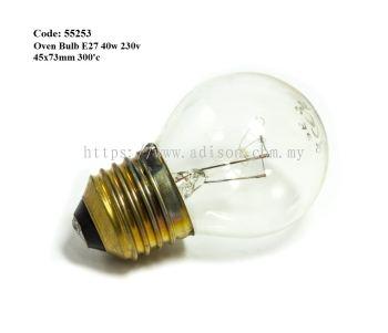 Code: 55253 E27 40W Oven Bulb