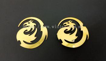 Titanium Gold Name Tag Logo