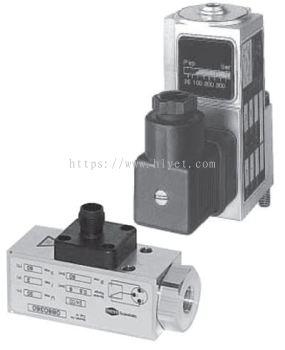 Hydraulic Pressure Switch (Series: 18D)  G1/4, 7/16-20 UNF (SAE 4), 1/4 NPT, Flange