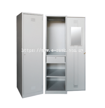 1 COMPARTMENT STEEL LOCKER WITH STEEL SWINGING DOOR