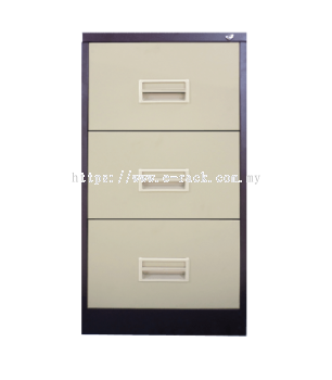 3 DRAWER FILING CABINET WITH RECESS HANDLE CW BALL BEARING SLIDE
