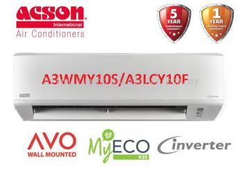 Acson 1.0HP Inverter Air Conditioner R32 AVO Series A3WMY10S & A3LCY10F