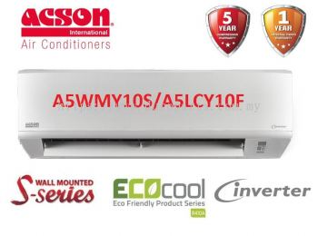 Acson 1.0HP Inverter Air Conditioner R410A S-Series A5WMY10S & A5LCY10F
