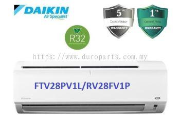 Daikin 1.0HP Non Inverter Air Conditioner R32 Standard P-Series FTV28P & RV28F