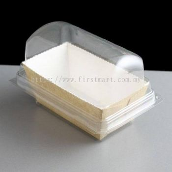 Plastic Hinged Mini Loaf Container