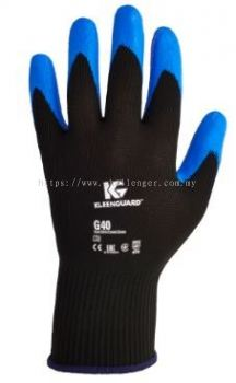 KLEENGUARD G40 Blue Nitrile Foam Coated Gloves