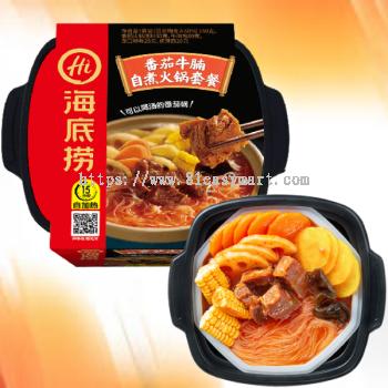 海底捞番茄牛腩自煮火锅套餐 (Self-heating Tomato Burdock Steamboat Set)