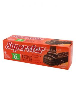 Super Star 三倍巧克力威化饼 (Tiple Chocolate Wafer Biscuit)