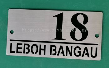 Stainless Steel House Number Plate 白钢门牌