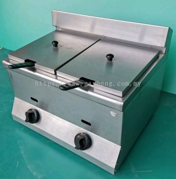 Stainless Steel Deep Fryer (Gas, tabletop) 桌面型煤气白钢炸炉