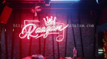 Indoor 3D Led Neon Light Logo & Lettering Signage, Raagam Bar, Bangsar