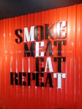 Meat Cartel  Holding Sdn bhd Subang jaya -3D Box Up Lettering Signboard With Non LED