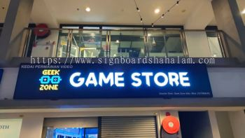 Geek Zone Shah Alam  - 3D LED Box Up Signboard - Frontlit