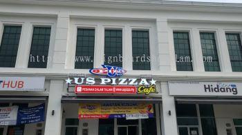 Us Pizza Semenyik - 3D Channel Signboard