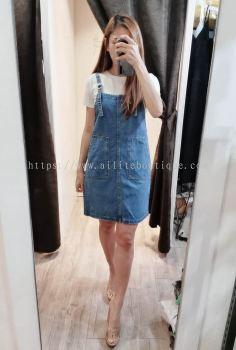 连身套装牛仔裙 (浅蓝)