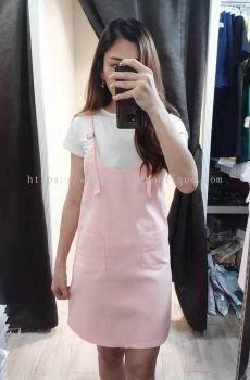 学院风套装裙,包括白色内搭(粉色)