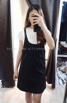 学院风套装裙,包括白色内搭(黑色)