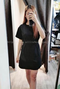 店主大爱的修腰显瘦设计连身裙(黑色)