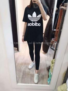 大码Unisex 3D Adidas(黑色)