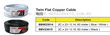 TWIN FLAT COPPER CABLE