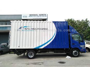 PKT Global Enterprise  box truck inkjet uv sticker  at usj19 subang jaya selangor