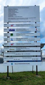 IRKAZ BUILDERS SDN BHD CONSTRUCTION PROJECT BOARD AT BANDAR KAJANG, HULU LANGAT, SELANGOR