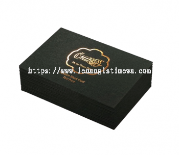 Hot Stamped Business Card