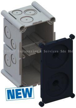 Flush-mounted box Varifix® 2x1