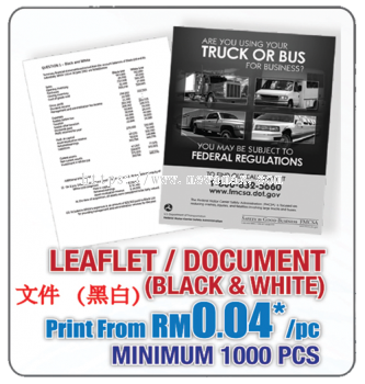 Leaflet&Document (Black & White)