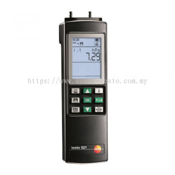 Testo 521-2 - Differential Pressure Measuring Instrument (0.1 % of f.v.) [SKU 0560 5211]