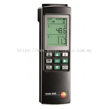 Testo 645 - Humidity/Temperature Measuring Instrument [SKU 0560 6450]