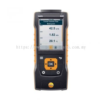 testo 440 | Air Velocity and IAQ Measuring Instrument [SKU 0560 4401]