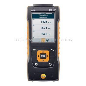 testo 440 dP | Air velocity & IAQ Measuring Instrument incl. Differential Pressure Sensor [SKU 0560 4402]