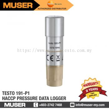 testo 191-P1 HACCP Pressure Data Logger