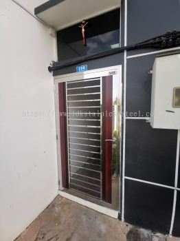 stainless steel single door
