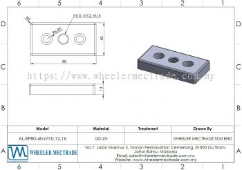 M10, M12, M16 End Plate