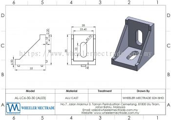 L Bracket for Alu Profile 30 x 30