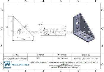 Steel Bracket 28 x 60