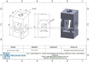 Pivot Joint for Alu Profile P6 Series