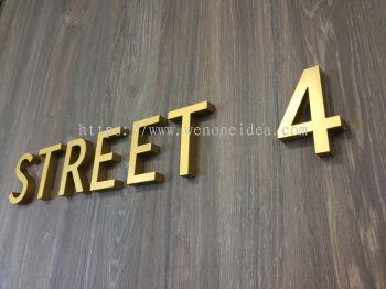 Gold Door Lettering Signage