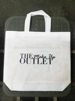 White Non Woven Bag with Silkscreen Printing