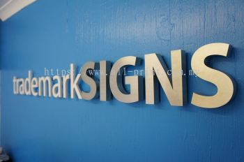 Sign - Stainless Steel Box up 3D Lettering