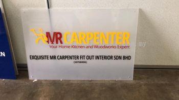 Laser Cut 3D Clear Acrylic Lettering - Mr Carpenter