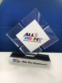 all print- custom made acrylic