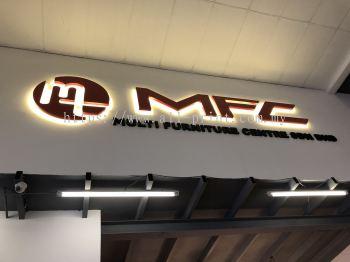 MFC-3D Box Up lettering+LED Backlit